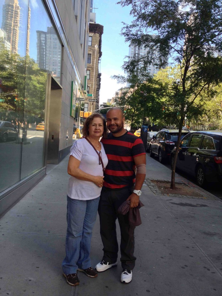 This is me and my sweet mom. She went with me to memorial Sloan Kettering cancer center where I donate platelets every so often for cancer patients.