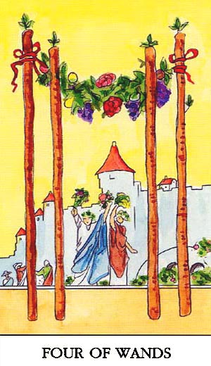 four of pentacles and eight wands relationship